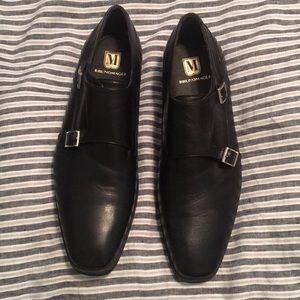 Bruno Magli Men's double monk-strap shoes